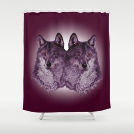 Season of the Wolf - Duet in Magenta Shower Curtain