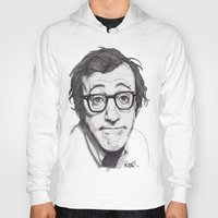 woody allen Hoodies featuring Woody Allen by Paul Nelson-Esch Art