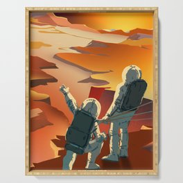 NASA Mars Recruitment Poster - Surveyors Wanted Serving Tray