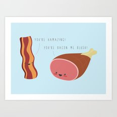 Ham and Bacon Friends Art Print