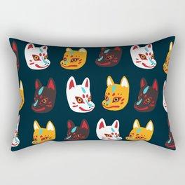 Kitsune Masks Rectangular Pillow