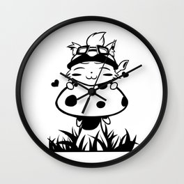 Peeking Teemo Wall Clock
