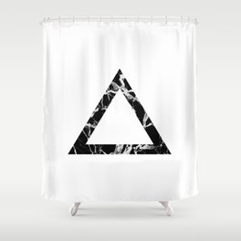 Marbled Triangle  Shower Curtain