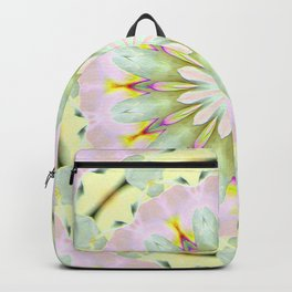 White Dream Orchid Kaleidoscope Neon Backpack