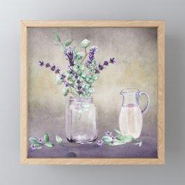 Country Lavender and Eucalyptus Framed Mini Art Print