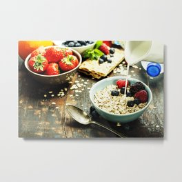 healthy breakfast Metal Print