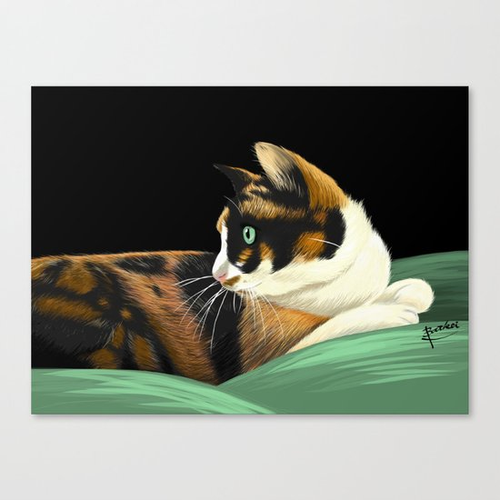 My lovely cat Canvas Print