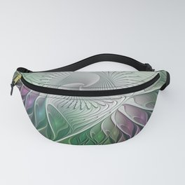 Colorful Fantasy Flower, Abstract Fractal Art Fanny Pack