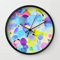 polka dot Wall Clocks featuring Polka Dot by Amy Sia