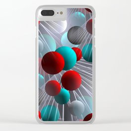 crazy lines and balls -21- Clear iPhone Case