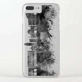 Bergamo skyline in watercolor background Clear iPhone Case