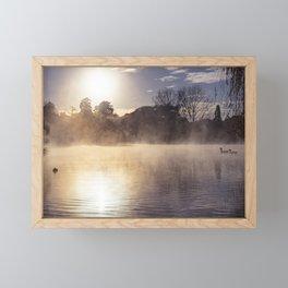 Misty Lake Morning Framed Mini Art Print
