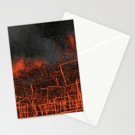 Urban landscape geometric structure rubble illustration Stationery Cards