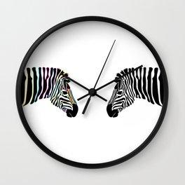 Zebra Reflection  Wall Clock