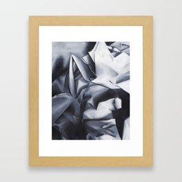 Crumpled Up Framed Art Print