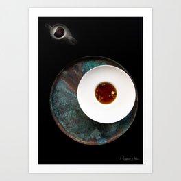 The Art of Food Gold Leaf Soup Art Print