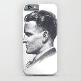 A portrait of F Scott Fitzgerald iPhone Case