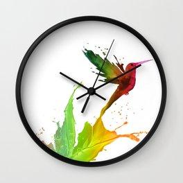Humming Bird Colors Wall Clock
