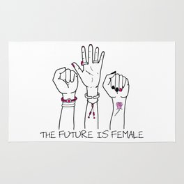 The future is female Rug