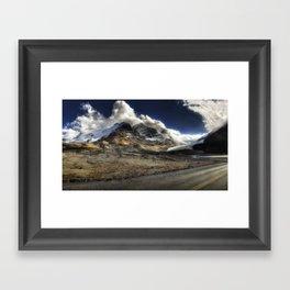 Glacier Expressif Framed Art Print