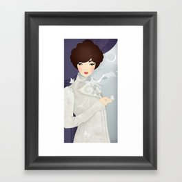 The Wings of the Dove: Violet Framed Art Print