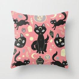 Witch Babies Throw Pillow