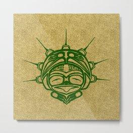Grass Frog Sand Metal Print