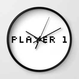 Player One Wall Clock