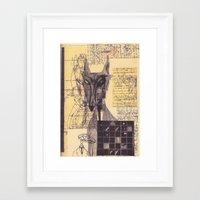 werewolf Framed Art Prints featuring werewolf by Spookfish