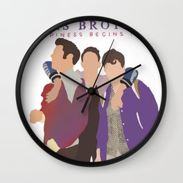jonas brothers tour 2020 dede3 Wall Clock