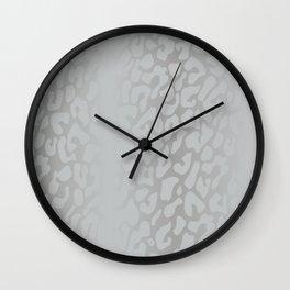White Silver Leopard Print Wall Clock