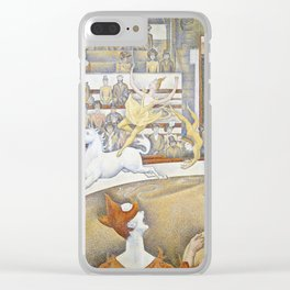 Georges Seurat - The Circus Clear iPhone Case