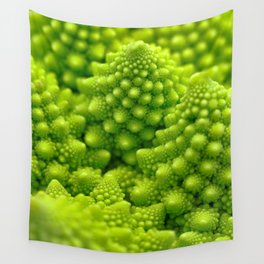 Macro Romanesco Broccoli Wall Tapestry