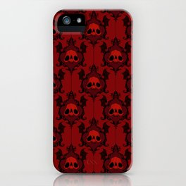 Halloween Damask Red iPhone Case