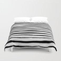 Black and White Stripes II Duvet Cover