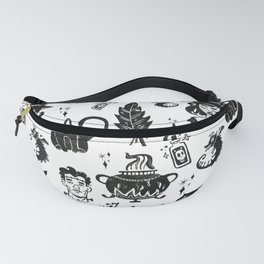 Witches, Cauldron and Cats Pattern Fanny Pack