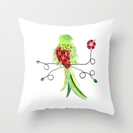 Bird of Costa Rica, quetzal Throw Pillow