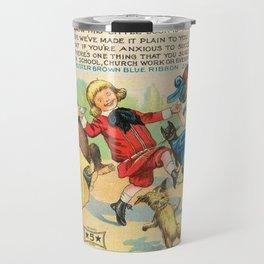 1904 Vintage Buster Brown Shoes Landscape Advertisement Poster Travel Mug