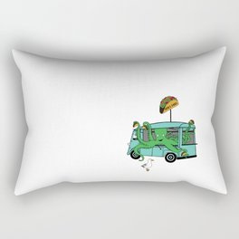 Flock of Gerrys Octo's Taco Cart by Seasons Kaz Sparks Rectangular Pillow