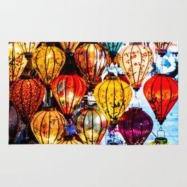 Lanterns of Hoi An, Vietnam I Rug
