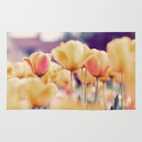 tulips Area & Throw Rugs featuring Tulips by elle moss