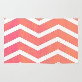 Patterned Chevron (Neon Peach) Rug