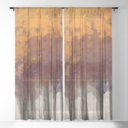 Vermont Forest Sheer Curtain