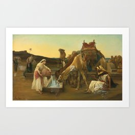 Alexandre Cabanel - Rebecca and Eliezer 1883 Art Print