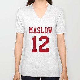 Maslow Red Unisex V-Neck