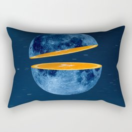 Moon and orange in the sky Rectangular Pillow