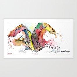 I'd rather be an albatross Art Print