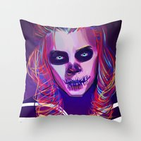 harry Throw Pillows featuring Harry by nasalouis