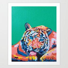 Wild Tiger Art Print