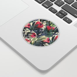 Painted Protea Pattern Sticker